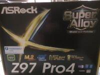 ASRock Z97 Pro4 motherboard - UNUSED, ALL ORIGINAL PACKING / MANUALS ETC