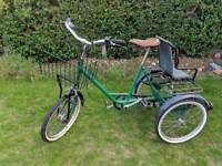 Retro Pashley Picador with Child Seat cargo bike tricycle