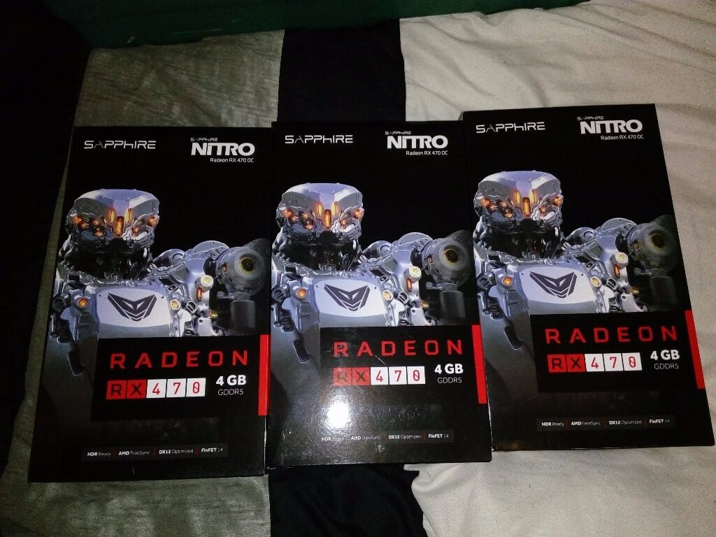 AMD Radeon Sapphire Nitro RX 470 4GB OC (Mining, gaming) - few days usage,  as new | in Aberdeen | Gumtree