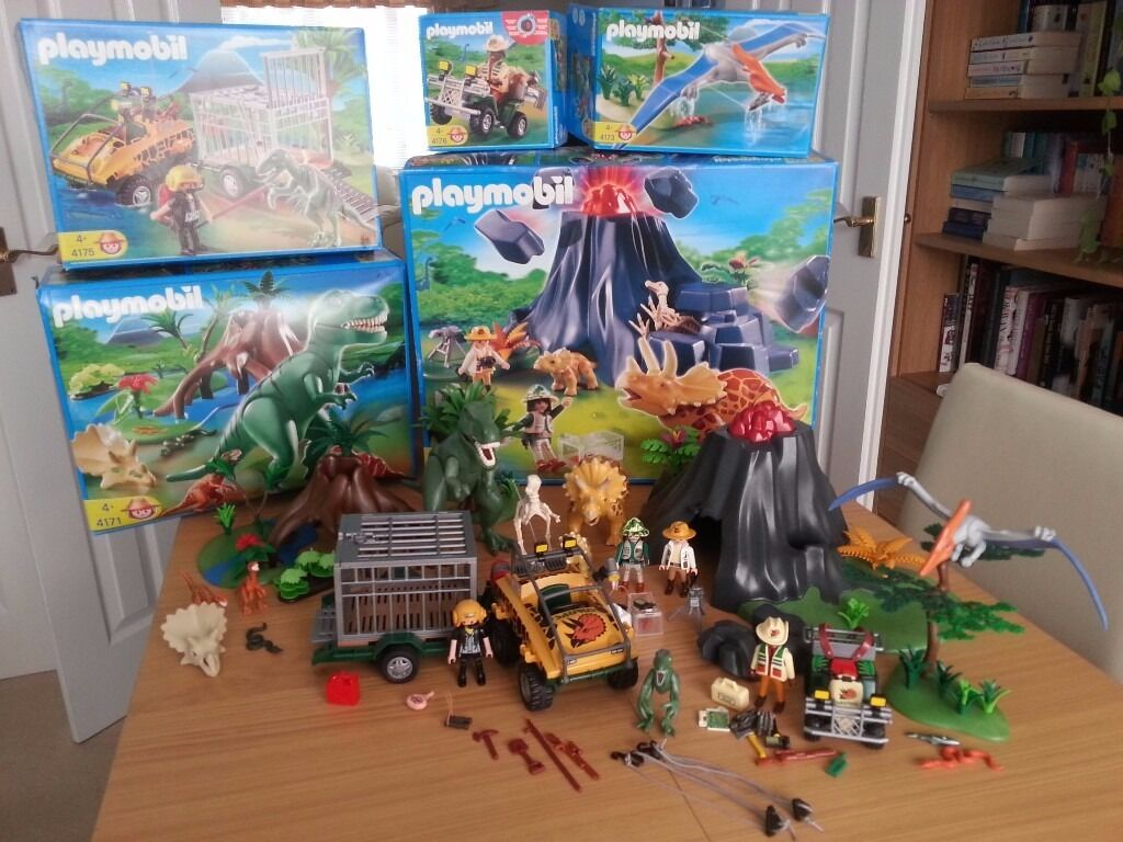 Playmobil dinosaur sets 5 sets in great condition with - Dinosaur playmobile ...