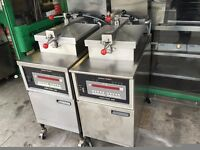 CATERING COMMERCIAL HENNY PENNY GAS 8000 FRIED CHICKEN PRESSURE FRYER MACHINE SERVICED WORKING OK