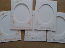 oval-aperture greeting card blanks