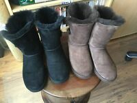 2 PAIRS SIZE 5&1/2 LADIES UGG BOOTS