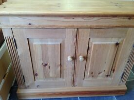 SOLID PINE WAXED HALL/LOUNGE SIDEBOARD IN EXCELLENT CONDITION EVERY INCH SOLID