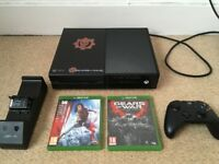 XBOX One 500GB with *13 GAMES*, Controller, Charging Dock (FIFA 17, Tomb Raider, Gears of War)..