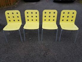 4 Ikea Jules Stacking Office / Kitchen Chairs FREE DELIVERY 553