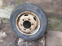 Transit steel wheel with tyre( fairly good tread)