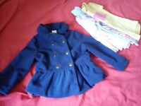 5 T-shirts & coat 12-18 months in great condition