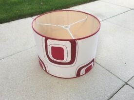 Lampshade Red & Ivory