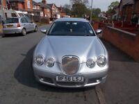 S-Type Jaguar, MOT till October, 4 recent tyres, 2.7 diesel, automatic, very good condition.
