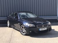 2013 BMW 5 Series 2.0 520d M Sport 4dr AUTO BLACK**Professional SAT NAV**ONE OWNER**fsh bmw