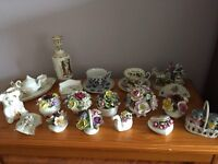 Various bone china items