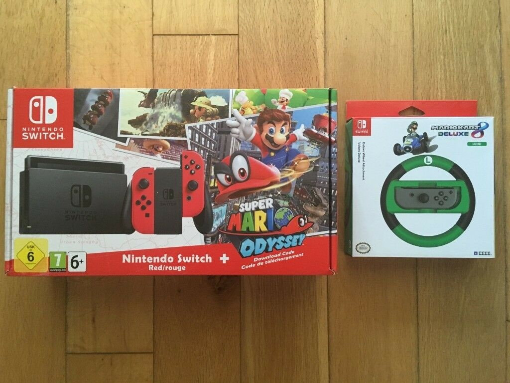 Nintendo Switch Limited Super Mario Odyssey Edition Plus Luigi Wheel 290 Ono In Croydon London Gumtree