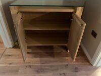 Solid oak sideboard (Glasswells)