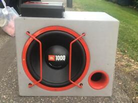 Jbl 1000 watt sub and amp