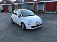 Fiat 500 white 1.2 Petrol low mileage for sale