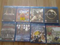 new blu rays £2 each or all 8 for £10