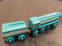 Connor wooden train