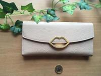 Lulu Guinness Latte Grainy Leather Wallet