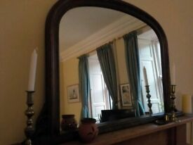 Lovely old over mantle mirror - and bargain!
