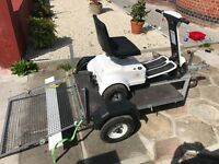 Patterson Trio golf buggy with trailer