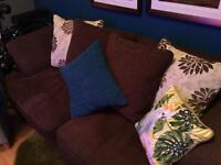 2 x three seater sofas (one a sofa bed) need these away asap this weekend!