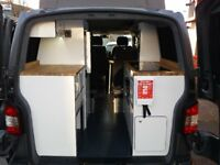 2014 VOLKSWAGEN TRANSPORTER T5 SWB CAMPER VAN CONVERSION WITH REAR KITCHEN