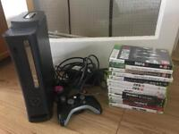 XBOX 360!120GB HDD WITH GAMES VGC
