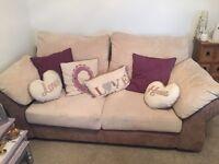 Sofa and free purple cushions £50 Ono