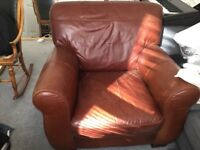 Gorgeous old leather armchair