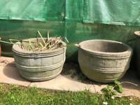 vintage large concrete planters garden pots decoration pond