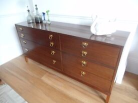 1960's E Gomme G Plan Teak Sideboard Chest Draws Storage Unit TV stand Cupboard