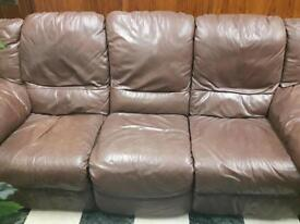 3 person leather recliner