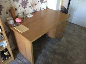 Wooden Desk   Three Drawers