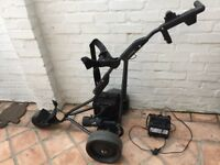 Powakaddy Freeway with lead battery + charger + umbrella holder - collection only