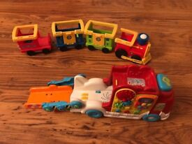 Fisher price train and Vtech toot toot car carrier
