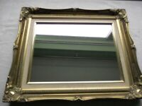 A Very Attractive Vintage Ornate Gilt Framed Mirror 54cm x 44cm