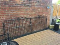 10ft Wide Wrought Iron Driveway Gates With All Hinges & Brackets- delivery or collection