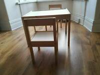 Ikea childrens desk and chairs