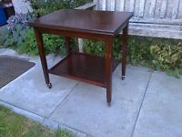 Vintage Mahogany Hostess Trolley Fold-Out Card/Games Table - Eastcraft Scotland