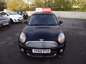 2010 MINI ONE, 2 OWNERS FROM NEW, LOW WARRANTED MILES WITH SERVICE INVOICES. MOT TILL OCTOBER 2018.