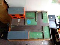 vintage kids /children toy farm house yard hand made wooden