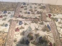Placemats with Wine Grapes bought in Volpaia, Italy (x 4)