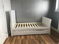 Mothercare White Cot Bed with under bed storage (instructions and all items included)