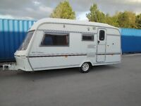 LUNAR CLUBMAN 460/2 TWO BERTH TOURING CARAVAN IN VERY GOOD CONDITION WITH AWNING READY TO GO !!!