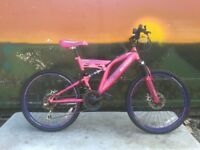 Girls 24 inch Dunlop Sunrise Double Disk Full Suspension Mountain Bike