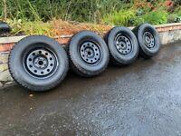 16'' VW AMAROK STEEL OFF ROAD WHEELS TYRES ALLOYS 5X120