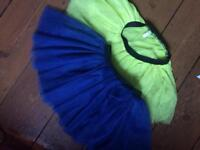 2 dressing up net skirts approx 5-7 yrs