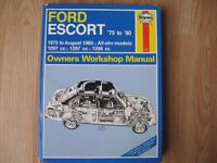 ford escort mk 2 workshop manual 1975 ~1980