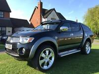 "Mitsubishi l200 elegance top of the range diesel , heated electric leather , sat nav, 22""alloys"